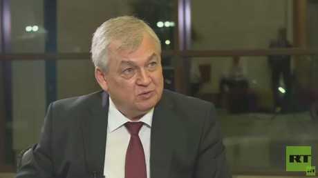 ألكسندر لافرينتييف، رئيس الوفد الروسي في لقاء