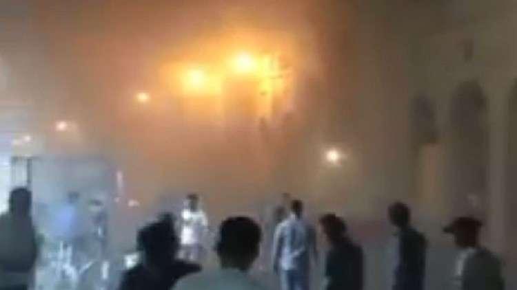 العراق.. اندلاع حريق في قلعة أربيل التاريخية