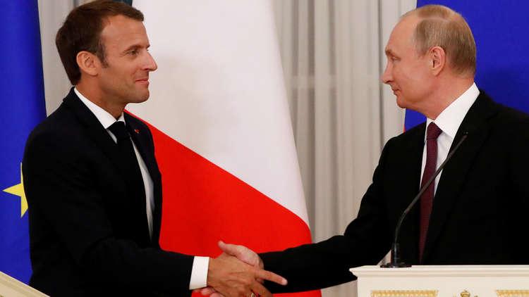 بوتين وماكرون يشيدان بالعملية الروسية الفرنسية لإيصال المساعدات الإنسانية في سوريا