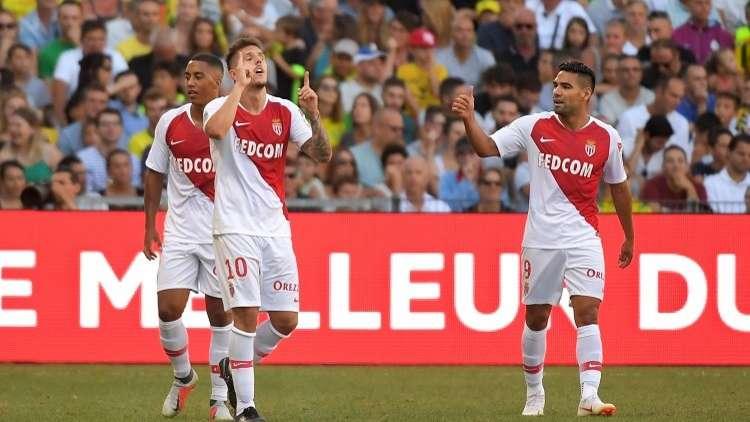 موناكو يهزم نانت بثلاثية في عقر داره (فيديو)
