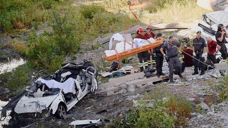 رئيس وزراء إيطاليا يعلن حالة الطوارئ والحداد إثر انهيار جسر جنوى
