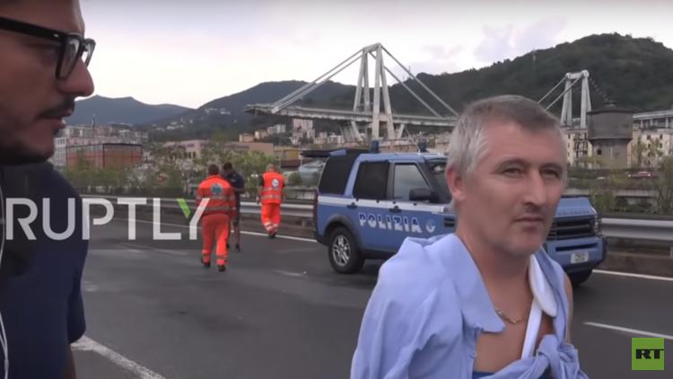 شاهد.. تفجير جسر جنوى بعد نحو عام من انهيار كارثي لجزء منه