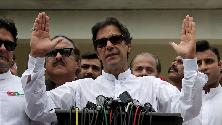رئيس الوزراء الباكستاني المنتخب عمران خان