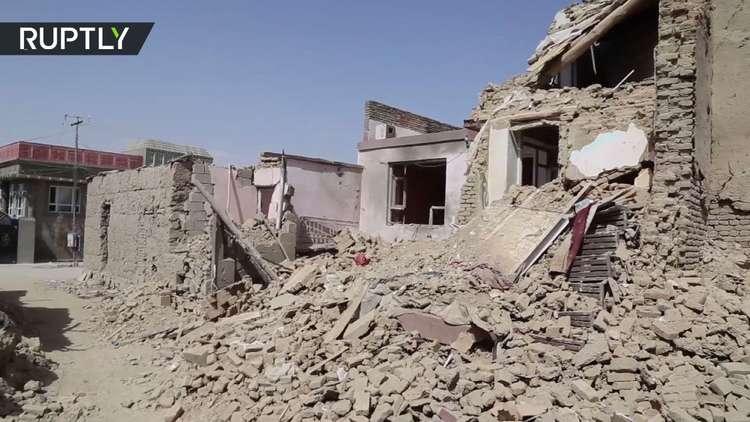 شاهد ما فعلته طالبان بمدينة أفغانية!