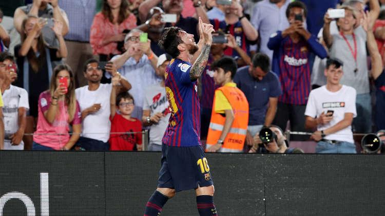 ميسي يسجل الهدف رقم 6000 في تاريخ برشلونة