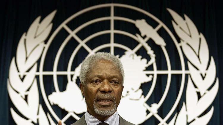الأمم المتحدة تنكس أعلامها 3 أيام حدادا على رحيل عنان