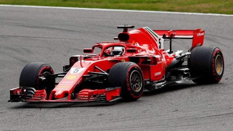 الألماني فيتل يتوج بجائزة بلجيكا الكبرى للفورمولا-1