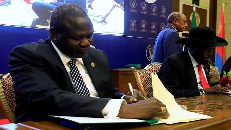 معارضة جنوب السودان توقع اتفاق السلام مع جوبا بالأحرف الأولى