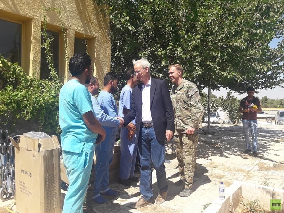 بالصور.. وفد عسكري-سياسي أمريكي يزور شمالي سوريا
