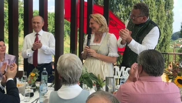 تعرف على هدايا بوتين للوزيرة العروس النمساوية