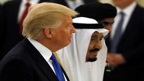 العاهل السعودي سلمان بن عبد العزيز والرئيس الأمريكي دونالد ترامب