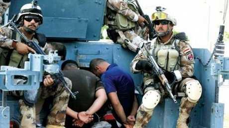 عناصر من داعش في قبضة القوات العراقية
