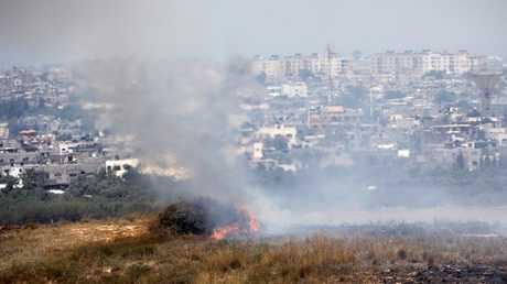 حرائق على الحدود بين إسرائيل وقطاع غزة