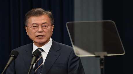 الرئيس الكوري الجنوبي مون جيه- إن