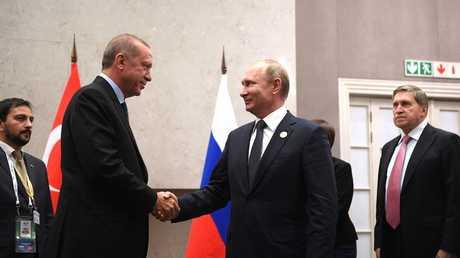 لقاء بين بوتين وأردوغان في جوهانسبورغ بجنوب إفريقيا