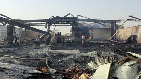 غارات سابقة للتحالف العربي على مدينة الحديدة في اليمن