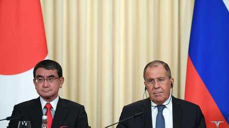 لقاء بين وزيري الخارجية الروسي سيرغي لافروف والياباني تارو كونو في موسكو - 31/07/18