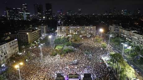 مظاهرة سابقة في تل أبيب