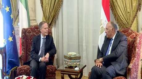 محادثات وزير الخارجية الإيطالي في مصر