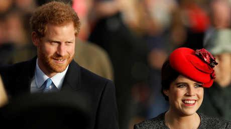 الأميرة يوجين ابنة دوق يورك والأمير هاري دوق ساسيكس
