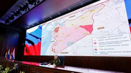 مؤتمر صحفي حول الأوضاع في سوريا في وزارة الدفاع الروسية - صورة أرشيفية