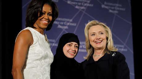 سمر بدوي خلال مراسم منحها