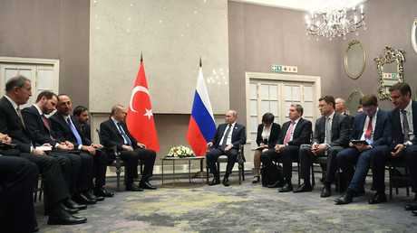 لقاء بين فلاديمير بوتين ورجب طيب أردوغان على هامش قمة بريكس في جوهانسبورغ - 29/07/18