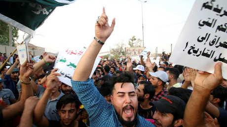 مظاهرة احتجاج في العراق على الأوضاع المزرية في البلاد