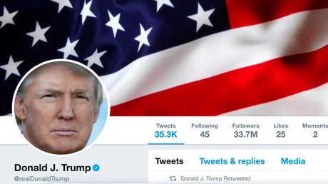حساب دونالد ترامب على تويتر