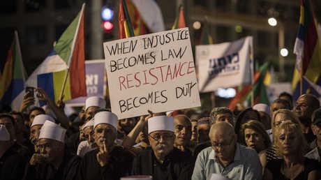 احتجاجات الدروز على قانون اليهودية في تل أبيب - 04/08/18