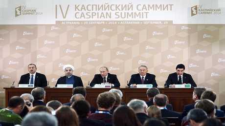 أرشيف - قمة قادة دول بحر قزوين في أستراخان في 29 سبتمبر 2014