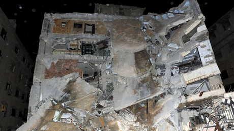آثار القصف الإسرائيلي على موقع في سوريا - صورة أرشيفية