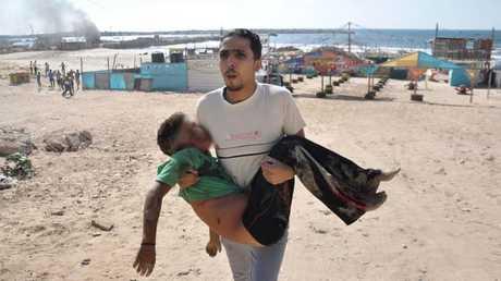 أحد الأطفال الأربعة القتلى بالضربات الإسرائيلية على شاطئ غزة في الـ16 من يوليو 2014