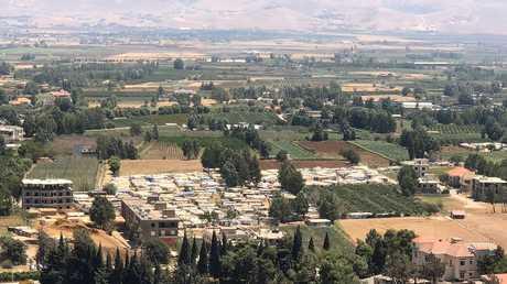 مخيمات لللاجئين السوريين في وادي البقاع بلبنان