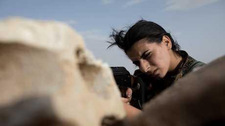 تدريبات المقاتلات الكرديات في الحسكة - صورة أرشيفية
