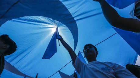 مظاهرات تأييدا للإيغور في إسطنبول