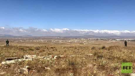 عسكريون روس في المنطقة المنزوعة السلاح في الجولان