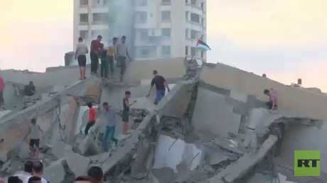 غارات إسرائيل دمرت مركز المسحال بغزة