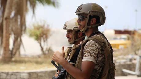 عناصر القوات الإماراتية في عدن