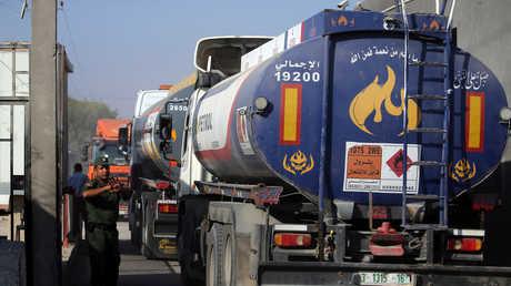 شاحنة وقود في معبر رفح - أرشيف