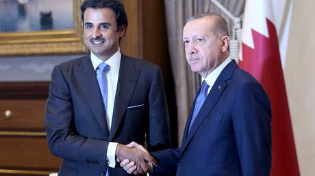 الرئيس التركي، رجب طيب أردوغان، يلتقي في أنقرة أمير قطر، الشيخ تميم بن حمد آل ثاني