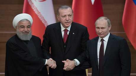 القمة الروسية التركية الإيرانية في أنقرة في 4 أبريل عام 2018