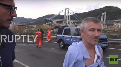 المواطن الإيطالي الذي نجى من حادثة انهيار الجسر.