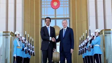 الرئيس التركي أردوغان وأمير قطر الشيخ تميم بن حمد آل ثاني