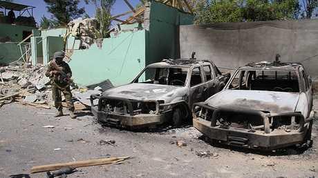 آثار هجوم طالبان في غزنة