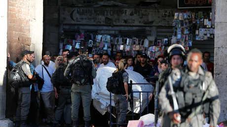 عناصر من الشرطة الإسرائيلية في البلدة القديمة للقدس