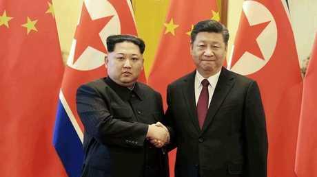 الرئيسان الصيني والكوري الشمالي