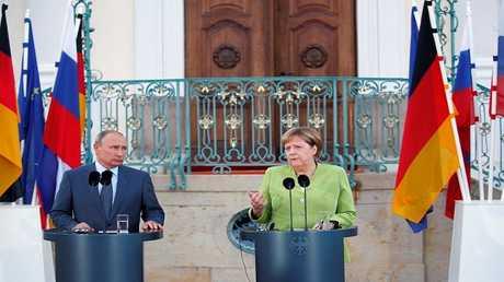 ميركل وبوتين، ألمانيا 18 أغسطس 2018
