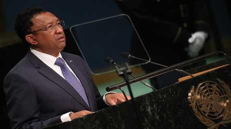 الرئيس الحالي لجزيرة مدغشقر، هيري راجاوناريمامبيانيا
