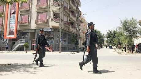عناصر من الأمن الأفغاني